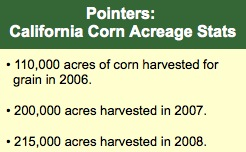 CA Corn Acreage