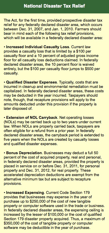 National Disaster Tax Relief
