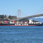 ship, bay bridge
