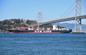 ship, bay bridge